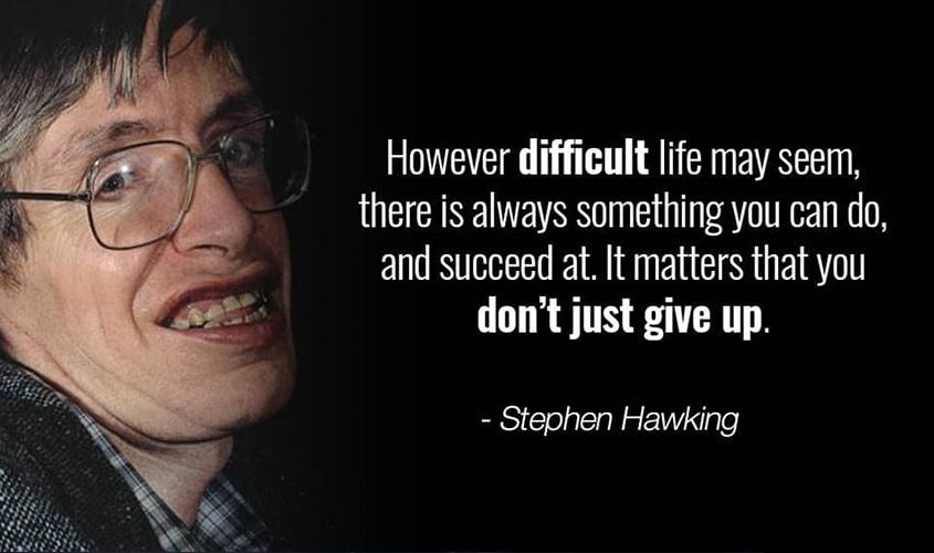 Kisah Inspirasi Hidup, Semangat Stephen Hawking, Amazing !
